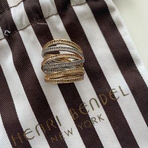 Henri Bandel 3 color ring size 7/8